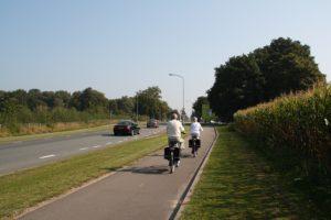 Ejemplo de carril bici en Holanda